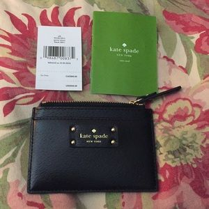 "KATE SPADE ""Grove Street"" Card Wallet ZIP $69 NEW"